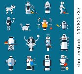 home robots collection helping... | Shutterstock .eps vector #512825737