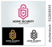 home security logo design... | Shutterstock .eps vector #512828545