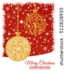 illustration. gold christmas... | Shutterstock . vector #512828935