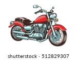 Hand Drawn Vintage Motorcycle....
