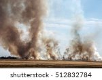 Strong Prairie Fire With Large...