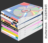 the stack of disks   the cd is... | Shutterstock .eps vector #512839645