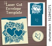 lasercut vector wedding... | Shutterstock .eps vector #512841271