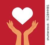 hands holding heart | Shutterstock .eps vector #512844481