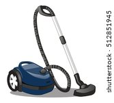 blue vacuum cleaner isolated on ...