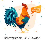 rooster illustration for the... | Shutterstock .eps vector #512856364