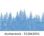 hand drawn fir tree forest...   Shutterstock .eps vector #512863051