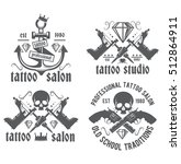 tattoo studio vector logo on a... | Shutterstock .eps vector #512864911
