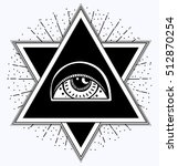 all seeing eye is on the... | Shutterstock .eps vector #512870254
