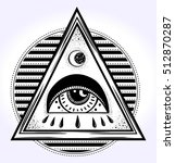 all seeing eye is on the... | Shutterstock .eps vector #512870287