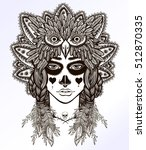 hand drawn artwork of mexican... | Shutterstock .eps vector #512870335