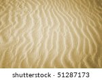 Beach With Soft Sand  Rippled...