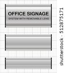 office signs system with... | Shutterstock .eps vector #512875171
