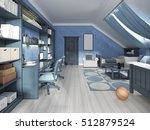 luxury children room for two... | Shutterstock . vector #512879524
