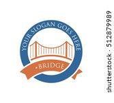bridge connection logo for your ... | Shutterstock .eps vector #512879989