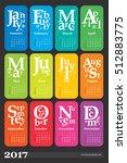 creative calendar for the year... | Shutterstock .eps vector #512883775