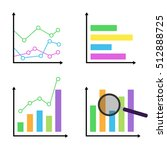 colorful diagrams and graphs... | Shutterstock .eps vector #512888725
