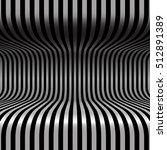 black and white stripes 3d | Shutterstock .eps vector #512891389