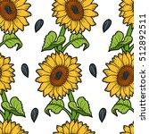 vector seamless pattern with... | Shutterstock .eps vector #512892511