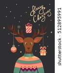 merry christmas vector greeting ... | Shutterstock .eps vector #512895991