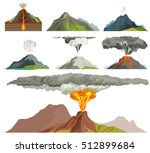 volcano magma nature blowing up ... | Shutterstock .eps vector #512899684