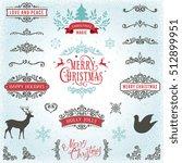 hand drawn swirls. merry... | Shutterstock .eps vector #512899951