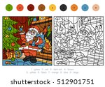 color by numbers  education... | Shutterstock .eps vector #512901751