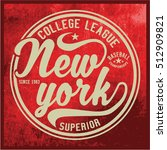 vintage varsity graphics and... | Shutterstock .eps vector #512909821
