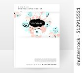 annual report brochure template ... | Shutterstock .eps vector #512915521