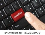 Cleaning Word On Red Keyboard...