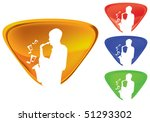 music button | Shutterstock .eps vector #51293302