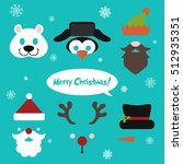 christmas photo booth and... | Shutterstock .eps vector #512935351