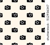 seamless pattern  camera art ... | Shutterstock .eps vector #512936347