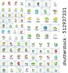 mega collection of letter logo  ...   Shutterstock . vector #512937331