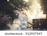 christmas decorations with... | Shutterstock . vector #512937547