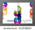 circle annual report templates  ... | Shutterstock . vector #512938825