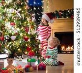 happy little kids in matching...   Shutterstock . vector #512939485