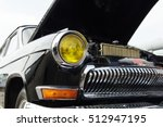 black vintage car on a festival ...   Shutterstock . vector #512947195