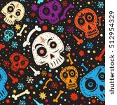 day of the dead colorful... | Shutterstock .eps vector #512954329