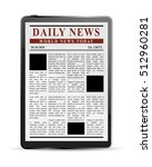 digital news concept ... | Shutterstock .eps vector #512960281