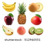 sweet fruits. banana  pineapple ... | Shutterstock .eps vector #512960551