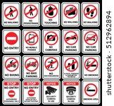 no signs to warn in different... | Shutterstock .eps vector #512962894
