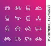 transport line icons set  car ... | Shutterstock .eps vector #512963389