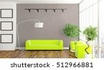 modern bright interior . 3d... | Shutterstock . vector #512966881