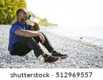 young black man wearing... | Shutterstock . vector #512969557