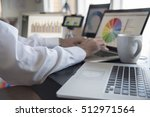 typing in data  crunching... | Shutterstock . vector #512971564