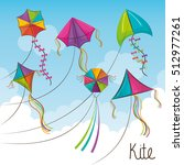 kite toy flying icon | Shutterstock .eps vector #512977261