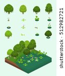 trees and aquatic plants set... | Shutterstock .eps vector #512982721