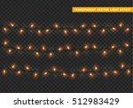 christmas lights isolated... | Shutterstock .eps vector #512983429
