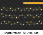 christmas lights isolated... | Shutterstock .eps vector #512983435